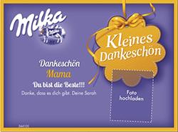 Muttertagsgeschenk Milka Schokolade
