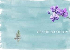 Muttertagskarte Blumen A4 - Muttertagskarten zum Download