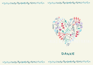 Muttertagskarte Herz Floral 320